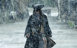 Preview wallpaper Pirates of the Caribbean 5, Johnny Depp, heavy rain