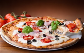 Preview wallpaper Pizza, cheese, food
