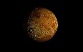 Planeta, fundo preto