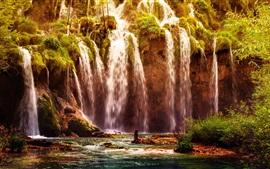 Plitvice National Park, waterfall, Croatia