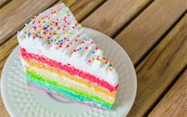 Preview wallpaper Rainbow color layers cake
