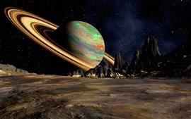 壁紙のプレビュー 土星、リング、惑星