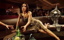 미리보기 배경 화면 섹시한 여자, 소다, 녹아, 창조적 인 그림