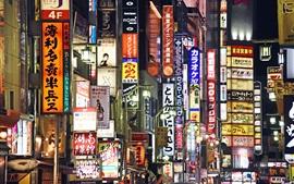 Preview wallpaper Shinjuku, Tokyo, Japan, city night, signboard