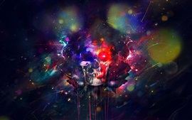 Preview wallpaper Skull, paint, colorful, bright, creative design