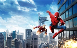 Preview wallpaper Spider-Man: Homecoming, Iron Man