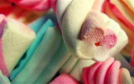 Preview wallpaper Spiral marshmallows, candy, sweet