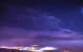Preview wallpaper Starry, night, stars, nature