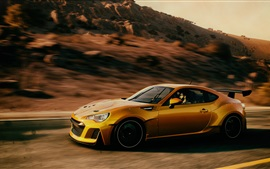 Preview wallpaper Subaru yellow supercar speed
