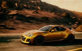 Subaru velocidade supercarro amarelo