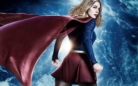 Preview wallpaper Supergirl, back view