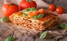 Tomatoes, lasagna, food