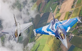 Preview wallpaper Two fighters flight, top view
