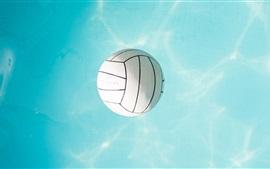 Voleibol, água azul