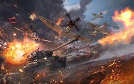 Preview wallpaper War Thunder, tanks, planes