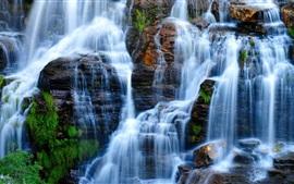Preview wallpaper Waterfalls, rocks, Brazil