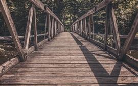 Preview wallpaper Wooden bridge, path