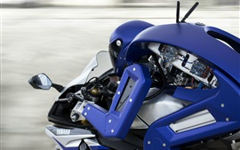 Preview wallpaper Yamaha R1M, robot driving motorcycle