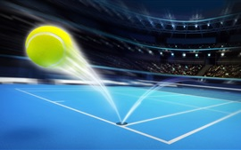 Preview wallpaper Ball flight trajectory, sport, art design