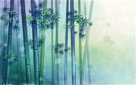 Preview wallpaper Bamboo forest, vector design