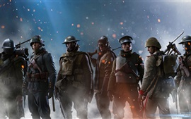 Preview wallpaper Battlefield 1, soldiers