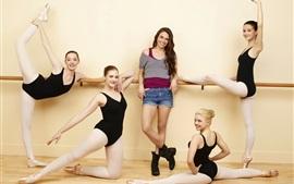 Chicas hermosas, bailarina, feliz