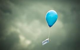 미리보기 배경 화면 파란 풍선 비행