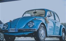 블루 레트로 자동차 정면보기