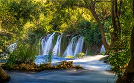 Preview wallpaper Bosnia and Herzegovina, Kravice Falls, waterfall, trees