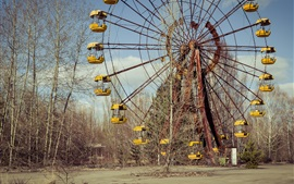 Preview wallpaper Chernobyl, lost places, ferris wheel