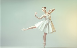Preview wallpaper Dancing girl, ballerina