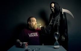 Death, cigarette, creative picture