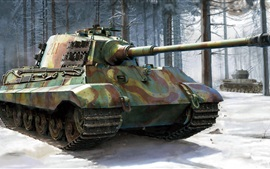 Preview wallpaper German heavy tank, Royal Tiger II