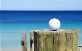 Preview wallpaper Golf ball, stump