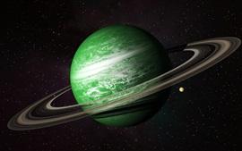 Preview wallpaper Green planet, belt, universe