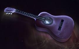 Guitarra, música, luz, escuro