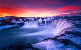 Preview wallpaper Iceland, beautiful snow, amazing landscape, sunrise