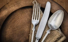 Preview wallpaper Knife, fork, spoon
