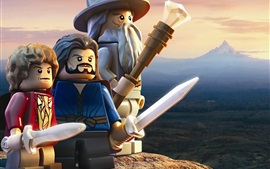 Preview wallpaper LEGO movie, The Hobbit, mountain top