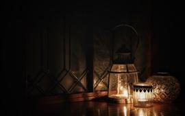 Luzes da lâmpada, escuridão