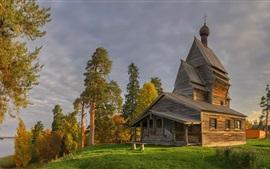 Leningrad Oblast, church, village, Russia