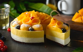 Preview wallpaper Mango cake