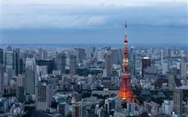 Minato, Tokio, rascacielos, ciudad, Japón