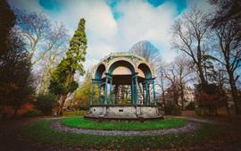 Parque, árboles, mirador