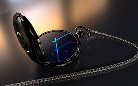 Preview wallpaper Pocket watch, light arrows, creative design