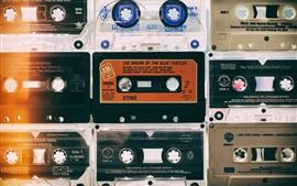 壁紙のプレビュー レコーダーテープ、レトロスタイル