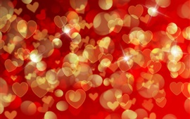 Preview wallpaper Romantic background, many love hearts, shine