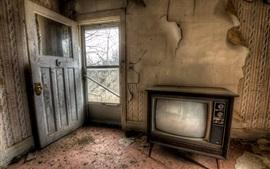 미리보기 배경 화면 유적, 방, TV, 먼지