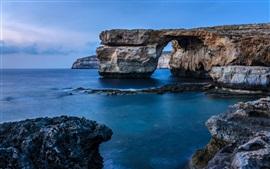 Preview wallpaper Sea, coast, rocks, arch