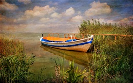 Preview wallpaper Spain, Albufera Natural Park, boat, grass